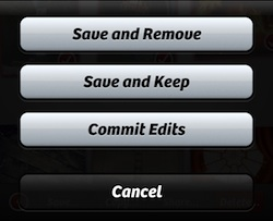save options